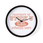 Property Of Stick U Nurse Wall Clock