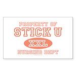 Property Of Stick U Nurse Rectangle Sticker