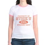 Property Of Stick U Nurse Jr. Ringer T-Shirt