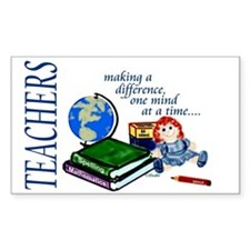 Teachers Making a Difference Rectangle Decal