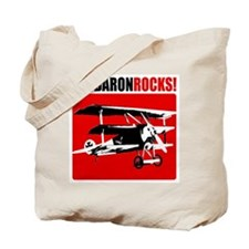 Red Baron Rocks! Tote Bag