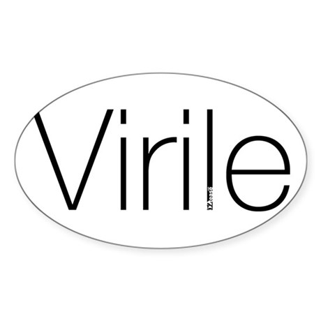 Virile Oval Sticker