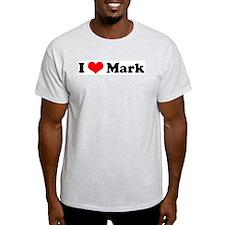 I Love Mark Ash Grey T-Shirt
