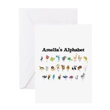 Amelia's Animal Alphabet Greeting Card