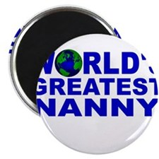 "World's Greatest Nanny 2.25"" Magnet (100 pack)"