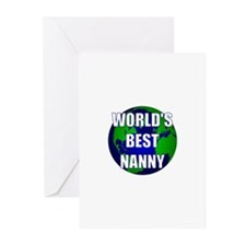 World's Best Nanny Greeting Cards (Pk of 10)