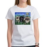 Happy Pekes under the smiling Tee