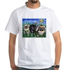 Happy Pekes under the smiling Shirt