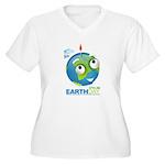 Eart Day Women's Plus Size V-Neck T-Shirt