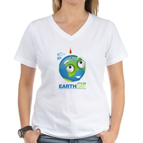 Eart Day Women's V-Neck T-Shirt