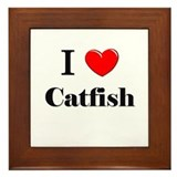 I Love Catfish Framed Tile