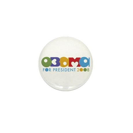 Funky I Heart Obama Mini Button (100 pack)