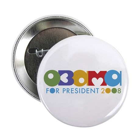 Funky I Heart Obama 2.25&quot; Button