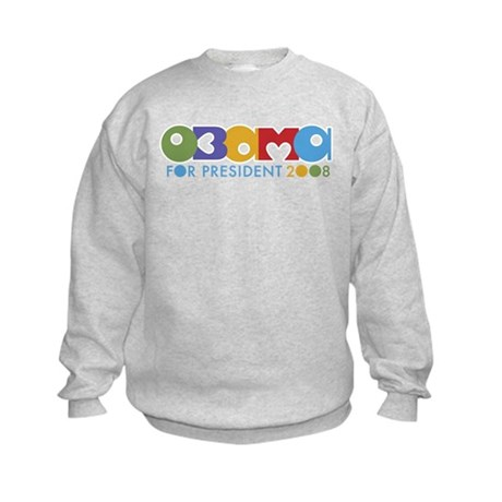 Funky I Heart Obama Kids Sweatshirt