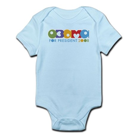 Funky I Heart Obama Infant Bodysuit