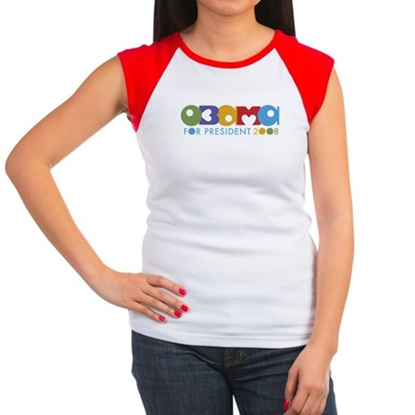 Funky I Heart Obama Women's Cap Sleeve T-Shirt