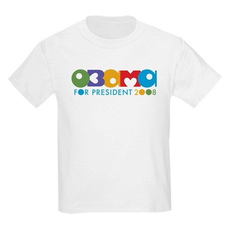 Funky I Heart Obama Kids Light T-Shirt
