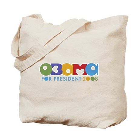 Funky I Heart Obama Tote Bag