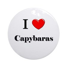 I Love Capybaras Ornament (Round)