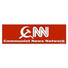 CNN - Commie News Network Bumper Car Sticker