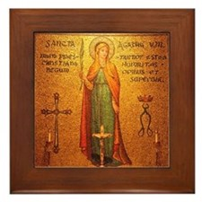 Saint Agatha Framed Tile