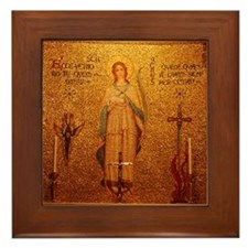 Saint Agnes Framed Tile