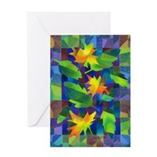 Leaf Mosaic Greeting Card