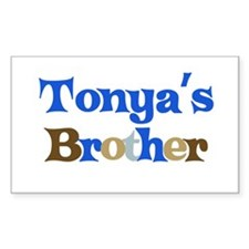 Tonya's Brother Rectangle Decal