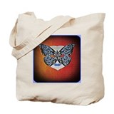 Butterfly Puzzle Mask Tote Bag