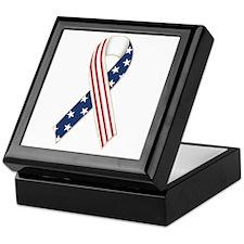 Patriotic Ribbon Keepsake Box