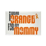 I Wear Orange For My Mommy 6 Rectangle Magnet