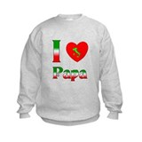 I (heart) Love Papa Sweatshirt