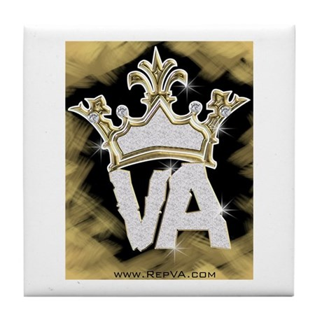 Crown of VA Tile Coaster