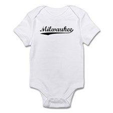 Vintage Milwaukee (Black) Infant Bodysuit