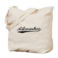 Vintage Milwaukee (Black) Tote Bag