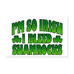 I'm So Irish I Bleed Shamrocks Mini Poster Print