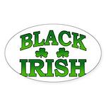 Once You go Irish You Never Go Back Oval Sticker