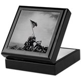 Historical Pic of Iwo Jima Keepsake Box