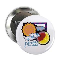 "Pisces sun moon 2.25"" Button"