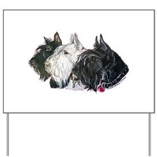 Scottish Terrier Trio Yard Sign