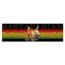 Reggae Rastafarian Bumper Car Sticker