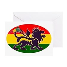 Reggae Rastafarian Greeting Cards (Pk of 10)