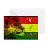 Reggae Rastafarian Greeting Card