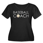 Baseball Coach Women's Plus Size Scoop Neck Dark T