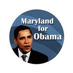 Maryland for Obama Extra Large Button