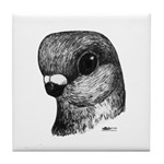 Stettiner Shortface Pigeon Tile Coaster
