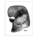 Stettiner Shortface Pigeon Small Poster