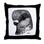 Stettiner Shortface Pigeon Throw Pillow
