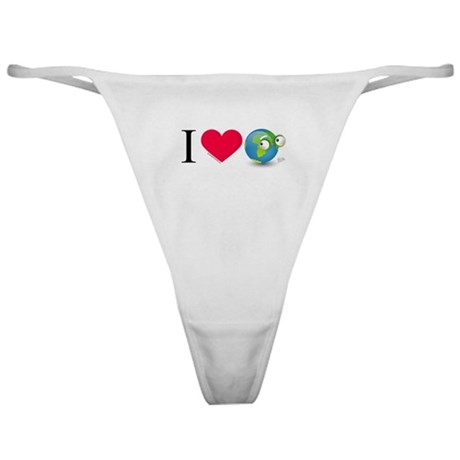 I Love Earth t-shirt Classic Thong