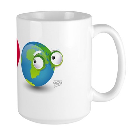 I Love Earth t-shirt Large Mug